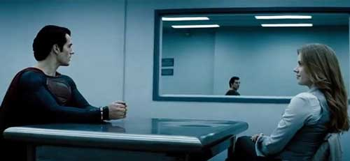 Two Way Mirror in Man of Steel